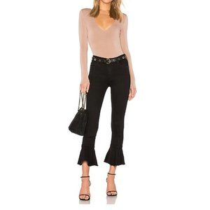 Mother Not Guilty Cha Cha Fray Crop Flare Jeans